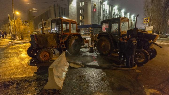 Тепло вернется к утру: на тепломагистрали в Ворошиловском районе продолжаются аварийные работы
