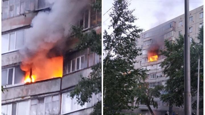 Во время пожара на улице 30 лет Победы из многоэтажки эвакуировали 35 человек и спасли 8 детей