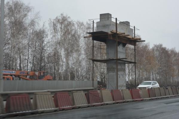 Строительство перехода уже идёт полным ходом