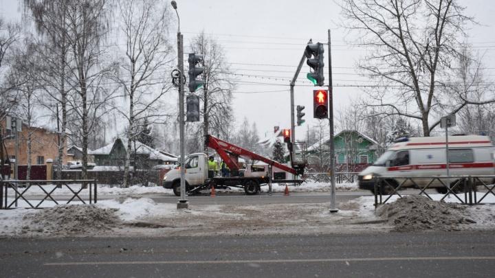 Ярославцы заставили чиновников поставить необычный светофор на проспекте Авиаторов