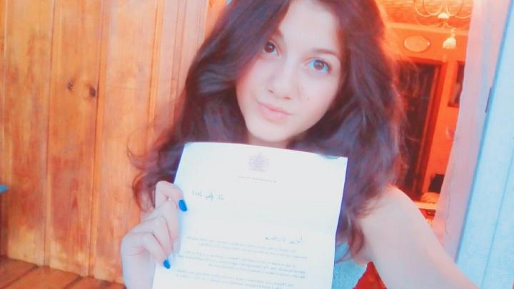 Новосибирская школьница получила письмо от английской королевы