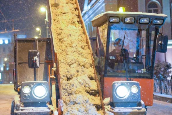 В этом году в Екатеринбурге сильных снегопадов было еще мало