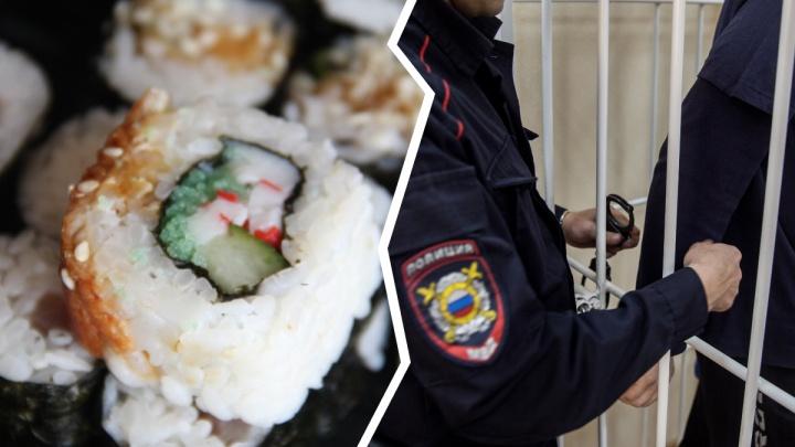 В Новосибирске клиенты избили доставщика суши и отобрали у него роллы с шампанским