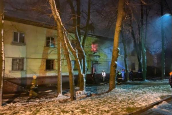 Из горящего дома эвакуировали 30 человек