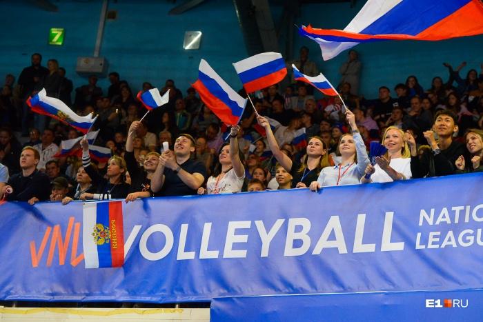 На сегодняшнем матче у сборной России была мощная поддержка