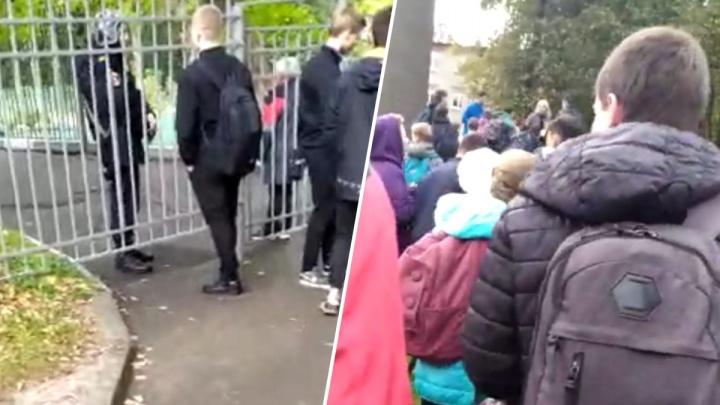 «Нашли коробку у столовой». Эвакуируют школу №18: здание оцепили сотрудники Росгвардии. Видео