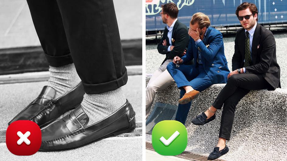 Далеко не все мужчины уже в курсе, что белые носки можно носить исключительно со спортивной обувью, говорит стилист