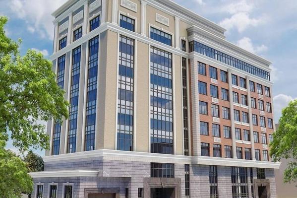 """На месте вырубленного сквера у лицея <nobr class=""""_"""">№ 22</nobr> построят восьмиэтажное административное здание"""