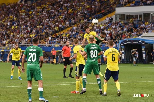 Посмотреть на игру ростовчан с казанским клубом пришли 35 тысяч человек