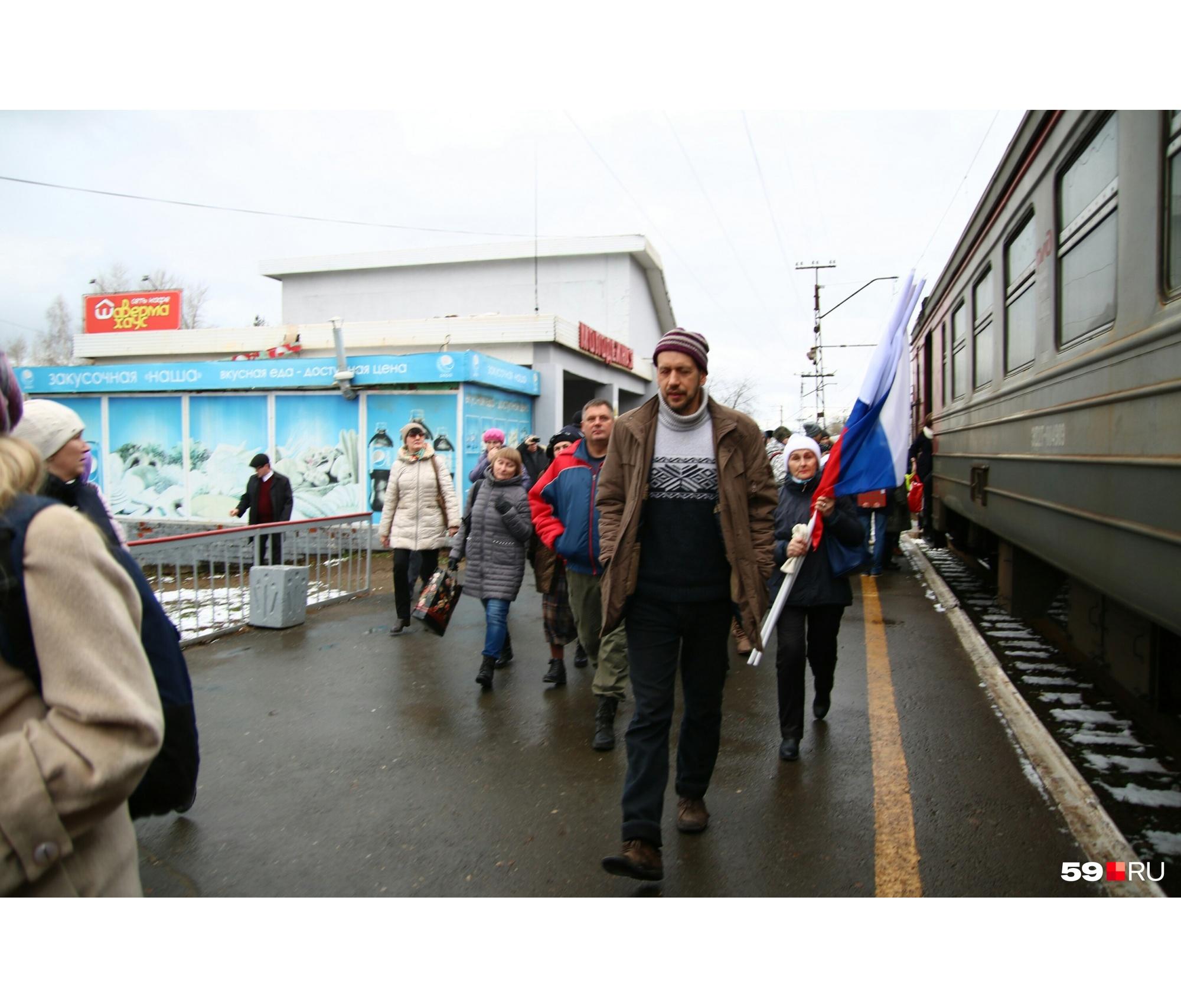 Денис Галицкий перед акцией