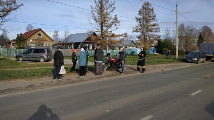 В Ярославской области 17-летний мотоциклист без прав задавил пенсионерку