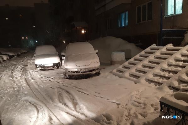 Снег за ночь запорошил улицы