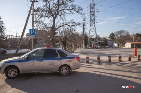 В происшествии пострадала только полицейская машина