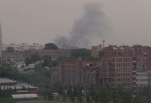 Новосибирцев встревожили клубы дыма за «Золотой Нивой»