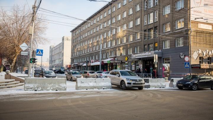 Перекрытие ни при чём: власти заявили, что пробки не связаны с ледовым городком на улице Ленина