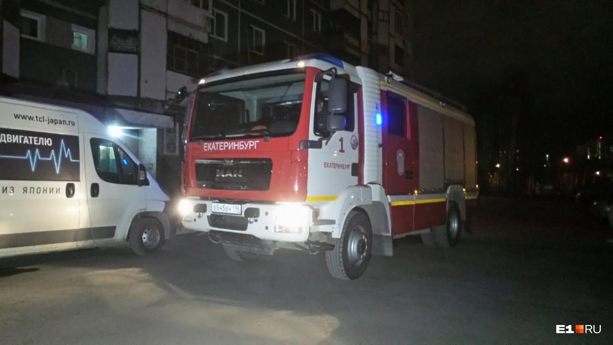 На пожар выезжали три единицы техники
