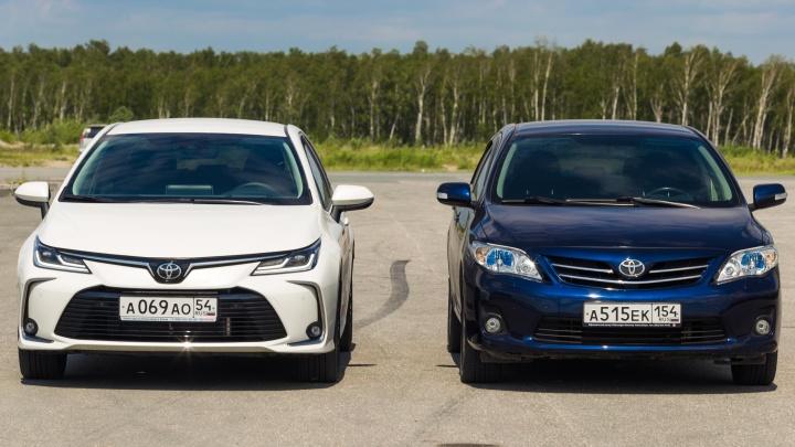 Сравнительный тест двух «Тойота Королла»: старая добрая с автоматом против новой с прибамбасами