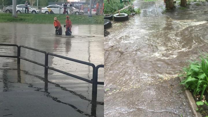 Водоканалья: Самару подтопило из-за обильного дождя