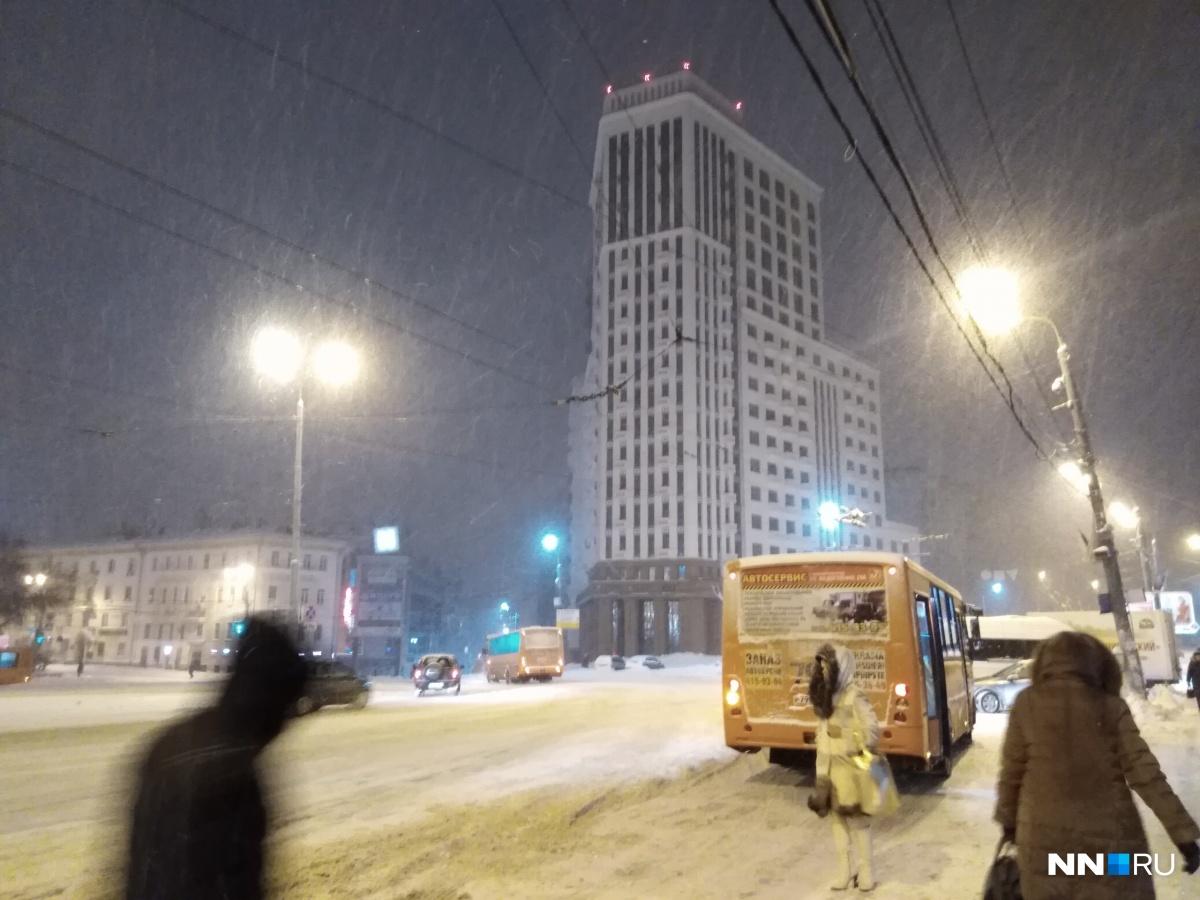 Снежный. Нижний. Утренний город