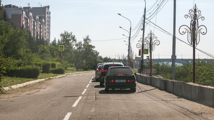 В перекопанном центре Красноярска нашли места, где выросла скорость движения
