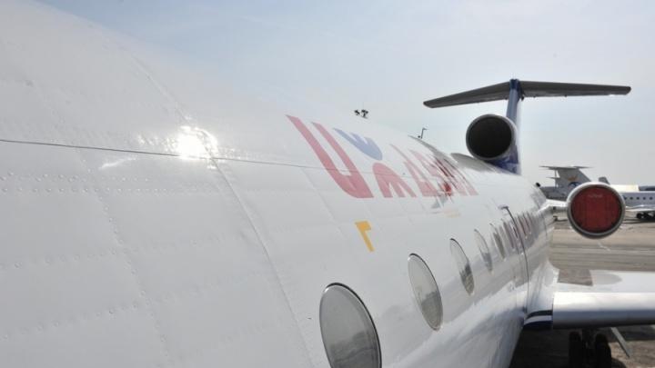 Первый регулярный авиарейс из Челябинска в Екатеринбург отменили