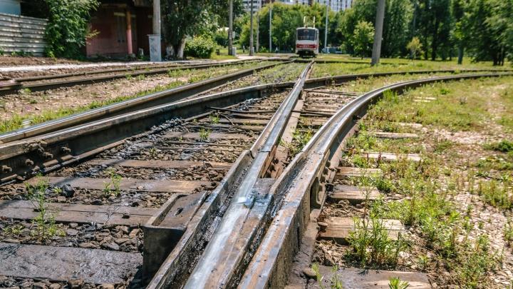 В Самаре из-за прокладки рельсов ограничат движение трамваев