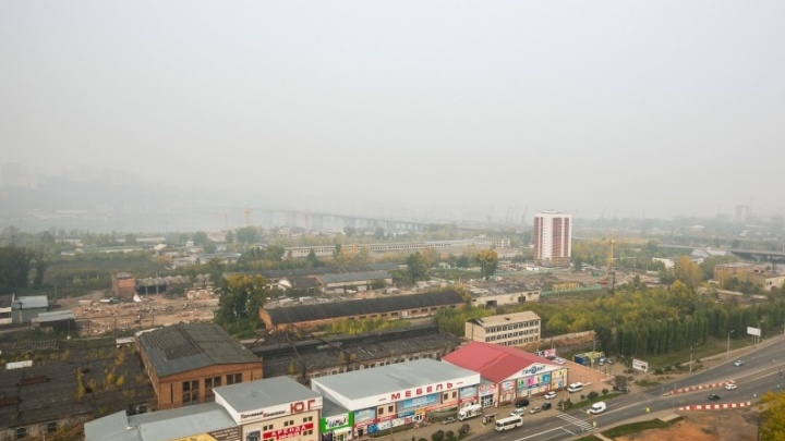 Опасная дымка накроет Красноярск на все выходные