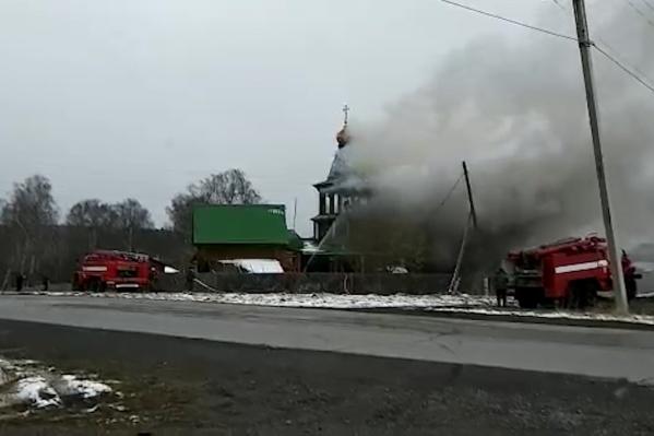 Пожар произошёл в Саткинском районе