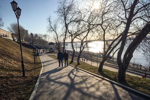 Набережная теперь — зона пешеходных прогулок