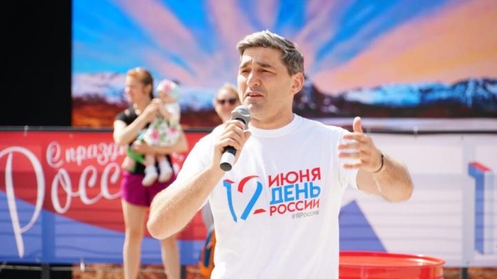 Олимпийский чемпион Вартерес Самургашев провел зарядку для ростовчан