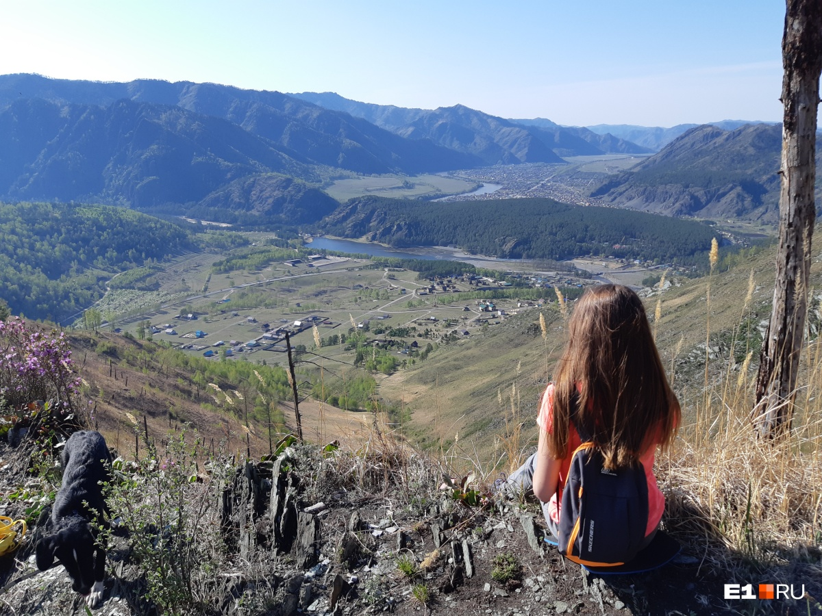Такие пейзажи в Горном Алтае на каждом шагу. Это фото сделано с вершины горы Верблюд в селе Чемал
