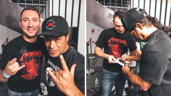 «Для фаната это просто шок!»: красноярец встретился после концерта с музыкантами Metallica