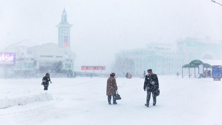 Город во мгле: на Новосибирск надвигаются мощные метели