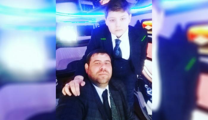Папа с сыном Давидом