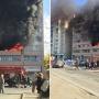 Собрались зеваки: в многоэтажном доме напротив ЧелГУ вспыхнул пожар