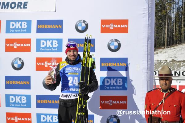 Тюменский биатлонист Александр Логинов взял медаль в индивидуальной гонке на этапе Кубка мира