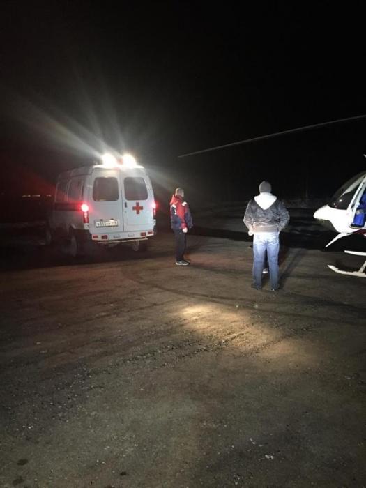 Ночью в Екатеринбург на вертолёте привезли годовалую девочку с серьёзной травмой