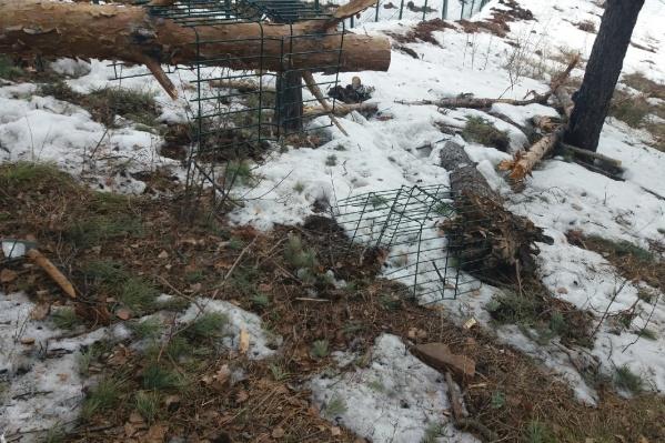 Остатки строительного мусора на Николаевской сопке