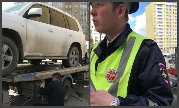 Инспектор, который оформлял эвакуацию, не сразу заметил, что в машине сидит подросток