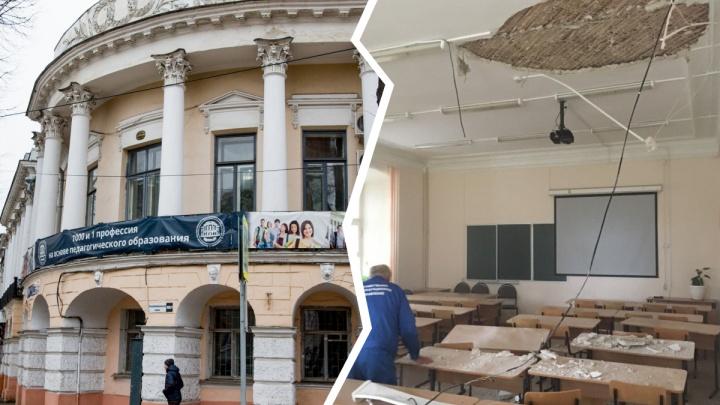 В ярославском вузе во время вступительного экзамена обрушился потолок