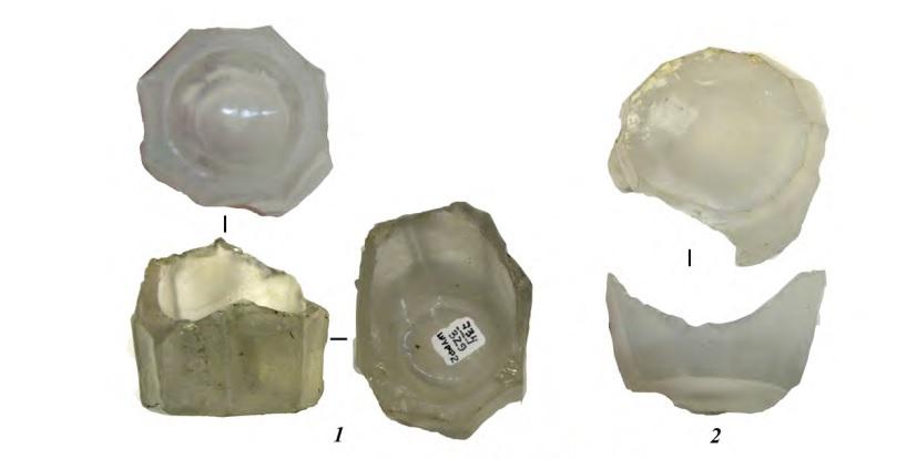 Фрагменты стеклянных стаканов