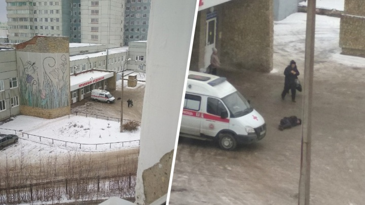 Упавший у дверей уфимской больницы мужчина остался без помощи врачей