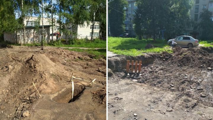«Подрядчик ушёл в другое место»: в Рыбинске заплатили за ремонт двора, а его не сделали