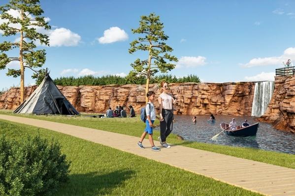 Площадь будущего парка — 100 гектаров