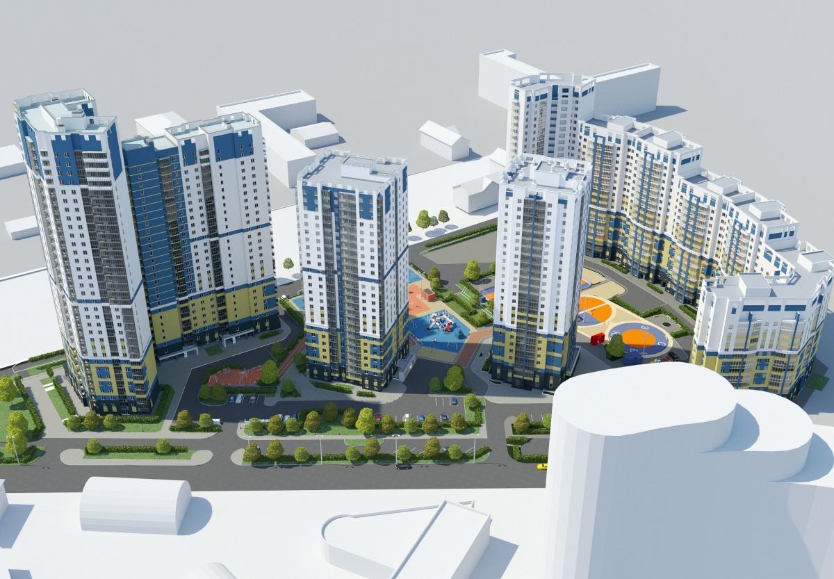 Так будет выглядеть готовый жилой комплекс