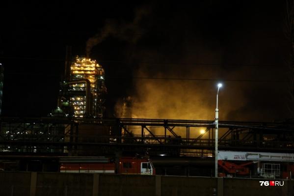 27 сентября на НПЗ загорелась одна из установок