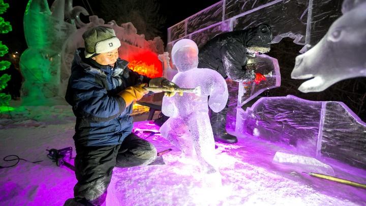 «Мы кайф от этого получаем»: история каждой изумительной фигуры из снега и льда на Татышеве