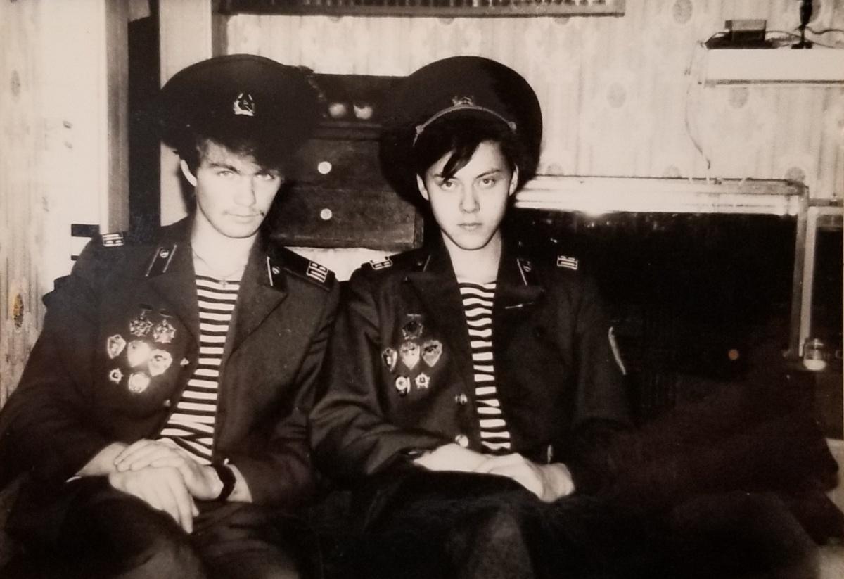 Олег (слева) с другом Евгением Шатуновым