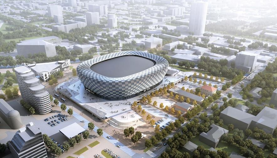 Один из вариантов фасада ледовой арены