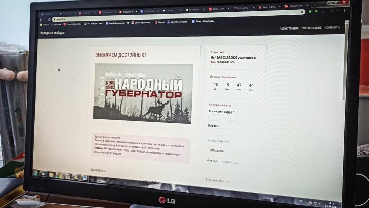 Неизвестные взломали сайт с голосованием за народного кандидата в губернаторы Архангельской области